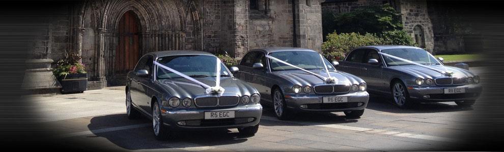 Bridal Cars outside Church